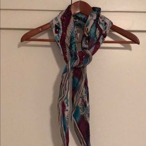 Made well Purple and Blue square scarf